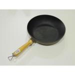 Сковорода-сотейник чугунная с деревянной ручкой 260*60 (Берлика)