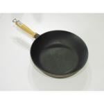 Сковорода-сотейник чугунная с деревянной ручкой 240*60 (Берлика)