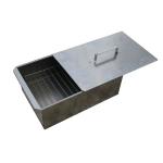 Коптильня 2-х ярусная 42х27х17,5 см нержавеющая сталь